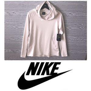 Nike | NWT Cream Hyperwarm Funnel Neck Hoodie (XL)